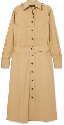 Joseph Hayes Cotton-poplin Midi Shirt Dress - Camel