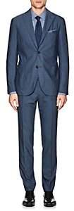 """Boglioli Men's """"K Suit"""" Wool Hopsack Two-Button Suit - Blue"""