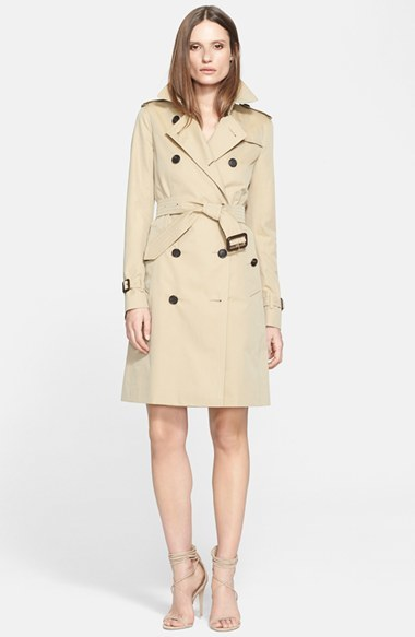 Women's Burberry London 'Kensington' Long Trench Coat