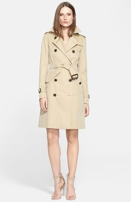 Women's Burberry London 'Kensington' Long Trench Coat $1,895 thestylecure.com