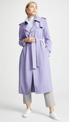 Norma Kamali Double Breasted Trench
