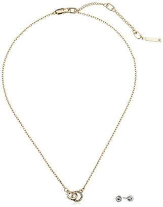Kenneth Cole New York Delicates Collection Women's Stone Trinity Ring Necklace and Earring Jewelry Set