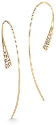 Jade Trau Fluted Earrings - Yellow Gold