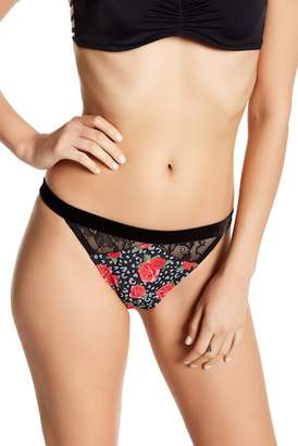 Betsey Johnson Floral Lace Detailed Hipster Bikini Bottom