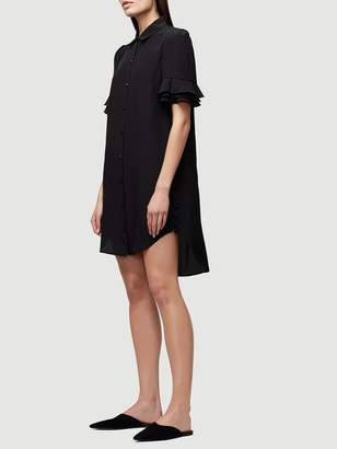 Frame Ruffle Sleeve Silk Dress
