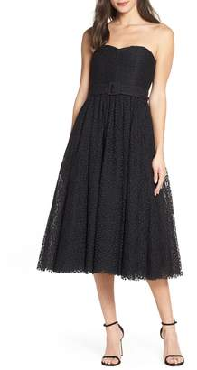 Fame & Partners Giulia Tea Length Lace Dress