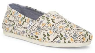 Toms Classic Portland Printed Natural Canvas Slip-On Shoe