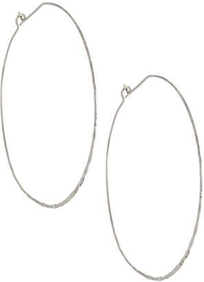 Panacea Silvertone Large Lever Back Hoop Earrings