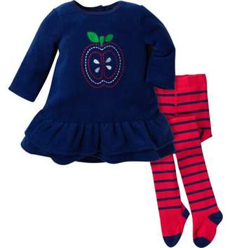 Gerber Fleece Dress with Tights, 2pc Outfit Set (Baby Girls)