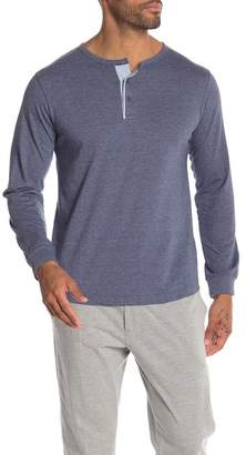 Unsimply Stitched Long Sleeve Lounge Henley