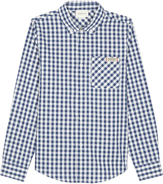 Gucci Gingham-print cotton long-sleeved shirt 4-12 years $300 thestylecure.com