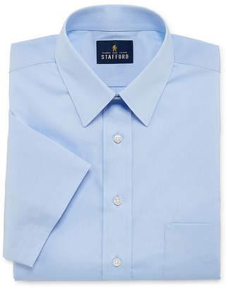 STAFFORD Stafford Travel Stretch Performance Super Shirt Short Sleeve Broadcloth Dress Shirt