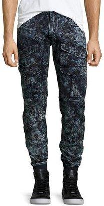 PRPS Bleached Astronaut Denim Jogger Pants, Dark Indigo $395 thestylecure.com