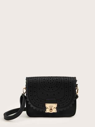 Shein Hollow Out Scalloped Crossbody Bag