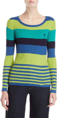 U.S. Polo Assn. Ribbed Striped Sweater