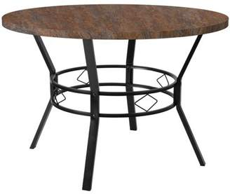 """Flash Furniture Tremont 45"""" Round Dining Table in Distressed Driftwood Finish"""
