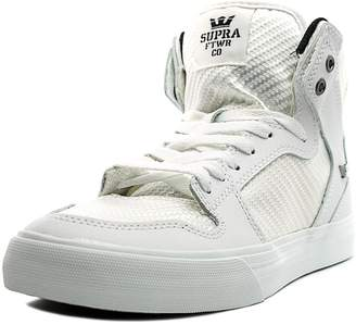Supra Vaider Mens White Nubuck High Top Lace Up Sneakers Shoes