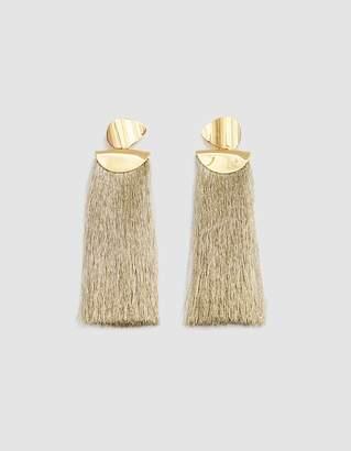 Lizzie Fortunato Crater Metallic Tassel Earrings
