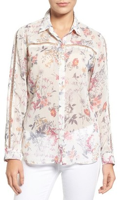 Women's Kut From The Kloth Eve Floral Print Blouse $78 thestylecure.com