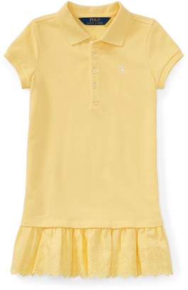 Ralph Lauren Eyelet-Hem Mesh Polo Dress