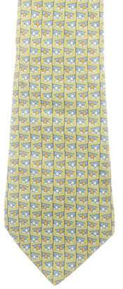 Salvatore Ferragamo Star Print Silk Tie
