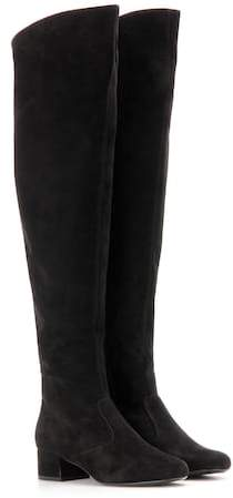 Saint Laurent BB 40 suede over-the-knee boots