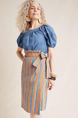d576a1f8d Eva Franco Striped Chino Midi Skirt