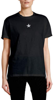 Stella McCartney Crystal Mini-Star T-Shirt
