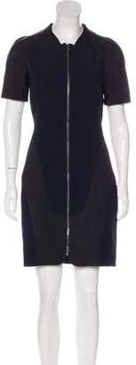 Alexander McQueen Colorblock Zip-Front Dress
