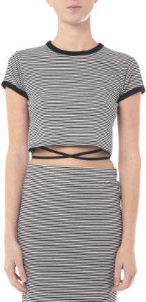 Nude Lucy Dillon Tie Up Crop Top