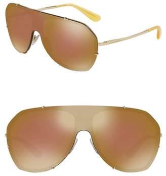 Dolce & Gabbana 37mm Shield Sunglasses