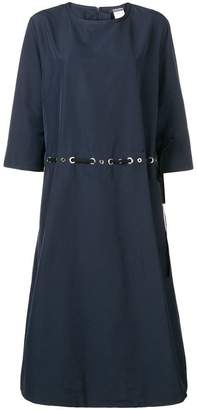 Max Mara 'S drawstring eyelet midi dress
