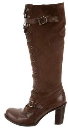 Alberto Fermani Lace-Up Knee-High Boots