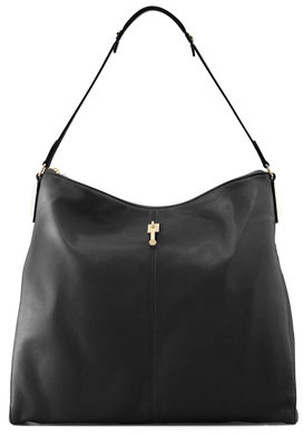 Elizabeth and James Lizard-Embossed Leather Hobo Bag