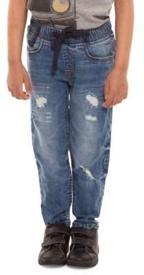 Dex Boy's Distressed Drawstring Jeans