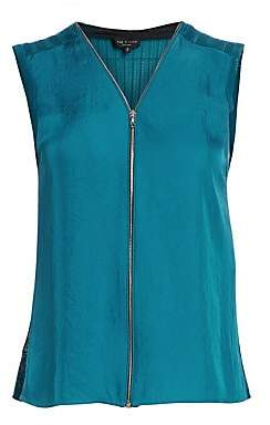 Rag & Bone Rag& Bone Rag& Bone Women's Valarie Zip-Front Sleeveless Top