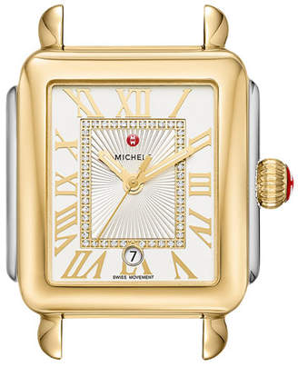 Michele Deco Madison Two-Tone Watch Head with Diamonds