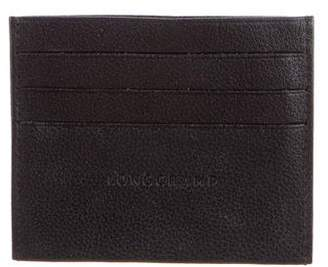 Longchamp Grained Leather Le Foulonne Card Holder