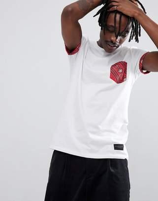 Criminal Damage Paisley Pocket T-Shirt