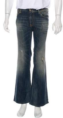 R 13 Distressed Relaxed Jeans