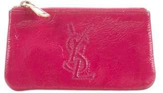 Saint Laurent Patent Leather Key Pouch