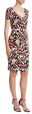 Roberto Cavalli Women's Ikat Leopard Cady Shift Dress