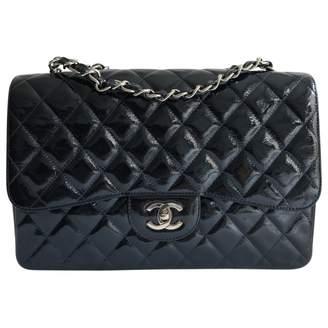 Chanel Timeless Navy Patent leather Handbag