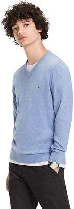 Tommy Hilfiger Cotton Cashmere V-Neck Sweater