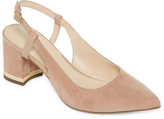 Liz Claiborne Womens Bay Pumps Round Toe Block Heel