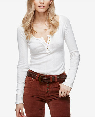 Free People Sugar And Spice Fitted Henley $68 thestylecure.com