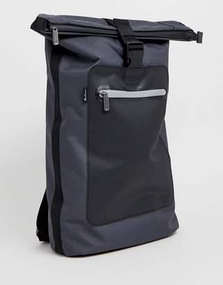 Ben Sherman roll top backpack in gray