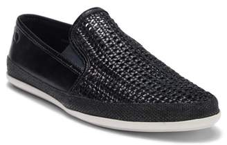 Base London Stage Leather Weave Loafer