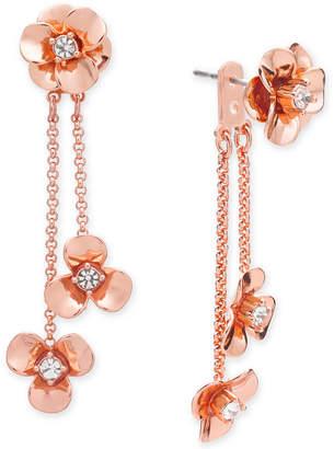 Kate Spade Gold-Tone Pave Flower Ear Jacket Earrings