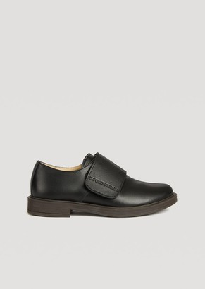 2898cfb4f Emporio Armani Monk Strap In Glossy Leather With Logo